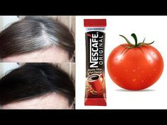 White hair to black hair naturally with coffee and tomato in just 4 minutes permanently 100 works