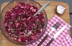 Comment j'ai appris à faire une autre salade de chou rouge avec Amandine