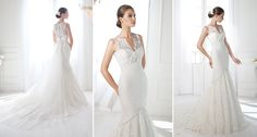 Wedding dresses created from separate, luxurious fabrics and laces are what each woman will find at Wedding Gallery. Wedding Gallery, Formal Dresses, Wedding Dresses, One Shoulder Wedding Dress, Vogue, Neckline, Lace, Collection, Women