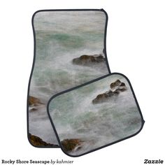 Rocky Shore Seascape Car Mat