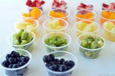 Healthy Dessert! Rainbow Yogurt Sundae Bar!