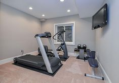 gym room at home * gym room ; gym room at home ; gym room at home small spaces ; gym room at home ideas ; gym room at home luxury Basement Workout Room, Home Gym Basement, Gym Room At Home, Workout Room Home, Workout Rooms, Basement Bathroom, Home Remodeling Contractors, Basement Remodeling, Bathroom Remodeling