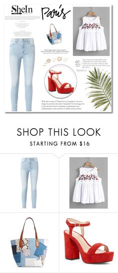 """blouse"" by muamera03 ❤ liked on Polyvore featuring Frame, Marc Jacobs, Shellys, H&M and GUESS"