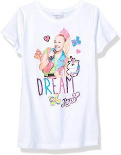 JoJo Siwa Girls J6SS157-3710 Dream & Unicorns Short Sleeve Tee Short Sleeve T-Shirt: Amazon.com.au: Fashion Thing 1, Presents For Girls, Girls Tees, Girls 4, Jojo Siwa, Kids Boxing, Birthday Shirts, 10 Birthday, Girls Dream