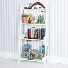 Ladder Bookcase, White - Bookcases & Bookshelves - Children's Furniture