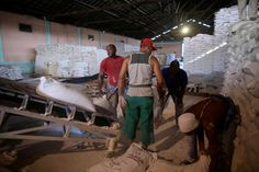 Workers load a tuck with flour to distribute an extra portion to local bakeries ahead of the arrival of Hurricane Matthew in Santiago de Cuba, Cuba, October 3, 2016. REUTERS/Alexandre Meneghini  via @AOL_Lifestyle Read more: http://www.aol.com/article/news/2016/10/06/hurricane-matthew-closes-in-on-florida-as-haiti-death-toll-rises/21576250/?a_dgi=aolshare_pinterest#fullscreen
