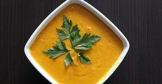 Krem z dyni z curry i imbirem   oraz mleczkiem kokosowym,   czyli aromatyczna zupa z dyni.         To kolejny przepis z dynią według  Ani...