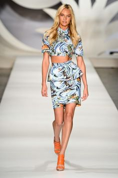 The Best Looks From Sao Paulo Fashion Week: Colcci. Love the print, the crop top and the Candice Swanepoel.