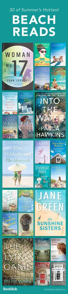 This list of books to read in the summer is great for the beach. With a mix of popular new novels from 2017 and 2018, romance, thriller, light reads and more...