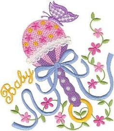 Free+Baby+Embroidery+Designs | Use this to create a great embroidered baby blanket.