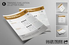 Training Evaluation US Letter Form from DesignBundles.net