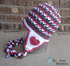 FREE PATTERN  From Knotted Notions!! My Valentine Beanie