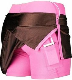 running skirt - Pocket for cell phone or mp3 player! Love this!