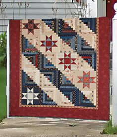 """Stripes & Stars"" by Maria Umhey (from The Quilter Magazine April/May 2013 issue)"