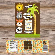 Jungle Zoo Birthday Digital Mini-Printable Party Package