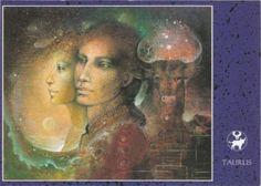 Susan Seddon Boulet Zodiac Sign Postcards -Taurus