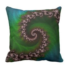 Benthic Saltlife Fractal Tribute for Reef Divers Throw Pillow - decor gifts diy home & living cyo giftidea