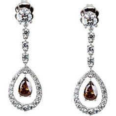 Amazing Genuine Gemstone Diamond Earrings at BitCoin Gems Gem Diamonds, White Gold Diamonds, Teardrop Earrings, Dangle Earrings, White Gold Diamond Earrings, Custom Earrings, Fantasy Jewelry, Jewelry Gifts, Jewelry Box