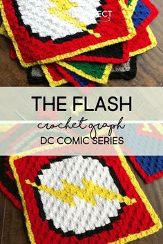Justice League The Flash Crochet Graph. Check out my new graph for 'The Flash'; part of my DC Crochet series to create the perfect DC Inspired afghan! Free graph and instructions! C2c Crochet Blanket, Graph Crochet, Pixel Crochet, Crochet Pillow, Tapestry Crochet, Afghan Crochet Patterns, Crochet Squares, Knitting Patterns, Crochet Afghans