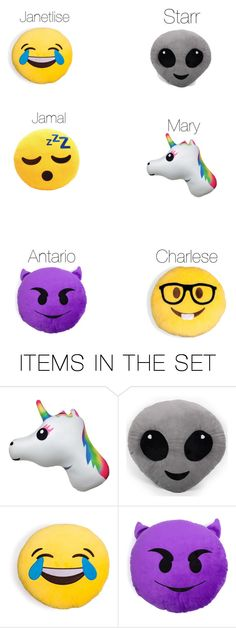 Emoji pillows I would buy my friendsu0026quot; by pinklovebooks on Polyvore ...