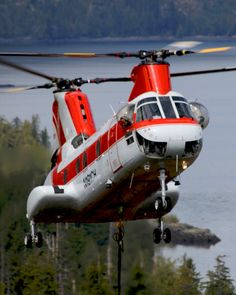 """Columbia Helicopters is also the only civilian operator of the Vertol 107-II—the commercial variation of the CH-46 Sea Knight—which we used to complete the remarkable """"Hoverbarge"""" mission in Alaska in 1982."""