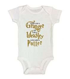 Live like a potter - cute baby onesie cute twins, cute baby girl, cute babi Harry Potter Baby Clothes, Harry Potter Baby Shower, Harry Potter Onesie Baby, Cute Baby Girl, Baby Love, Cute Babies, Baby Boy Outfits, Kids Outfits, Onesies