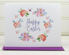 Easter Card, Floral Easter Card, Pretty Easter Card, for Husband, Wife, Mom, Dad, Son, Daughter, Grandmother, Grandfather, Granddaughter