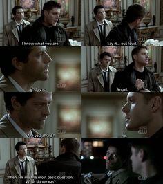 Hilarious Supernatural/Twilight mashup. Castiel is not a vegetarian angel.