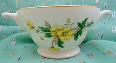 Edwin Knowles Buttercup Footed Bowl with by ErikawithaKDesigns, $7.99