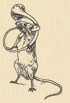 """Music in the Mouse's World : """"A little girl's fantasy as she shrinks to the size of mice and inhabits their world."""" Illustrations by L. Wenckebach for In De Muizenwereld by Agatha Snellen (Netherlands, Gravure Illustration, Illustration Art, Illustrations, Rabbit Illustration, Medieval Drawings, Medieval Art, Medieval Tattoo, Smal Tattoo, Arte Peculiar"""