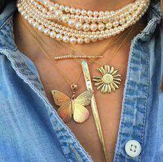 The Beauty in layering #Roseark #Love #ElisabethBell #JamesBanks #Roseark #Jewelry