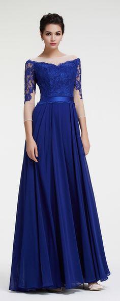 Lace Cap Sleeve Evening Gown Pinterest