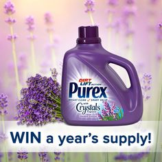 Enter daily to win a year's supply of Purex with Crystals Fresh Lavender Blossom #Sweepstakes Ends 2/29.