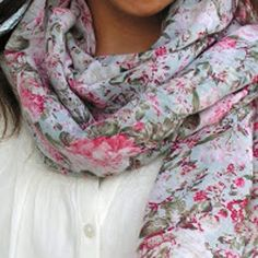 Floral Scarf from Dress - It's easy to put an old item of clothing to a second use. Check out the Floral Scarf from Dress tutorial to make a scarf using any dress you no longer wear. Simple and quick DIY crafts are great projects for people just getting the hang of sewing.This is an easy beginner sewing project that shows you ways to reuse your clothes. Easy Sewing Projects, Sewing Projects For Beginners, Sewing Hacks, Sewing Tutorials, Sewing Patterns, Sewing Ideas, Sewing Tips, Quilting Projects, Clothes Crafts