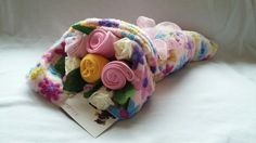 Bouquet of baby clothing 'flowers'