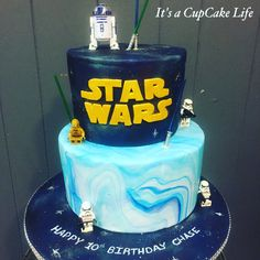 Star Wars Birthday Fun. I love the cake board.