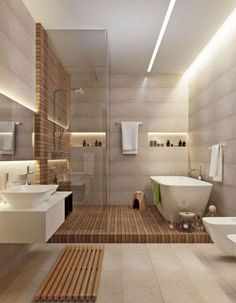 Luxury Master Bathroom Ideas is completely important for your home. Whether you choose the Small Bathroom Decorating Ideas or Small Bathroom Decorating Ideas, you will create the best Luxury Master Bathroom Ideas Decor for your own life. Bathroom Spa, Bathroom Renos, Bathroom Ideas, Natural Bathroom, Spa Inspired Bathroom, Bathroom Goals, Bathroom Remodeling, Remodeling Ideas, Bathroom Lighting