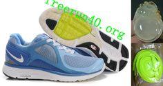 Mens Nike Lunar Eclipse Gray Blue Shoes