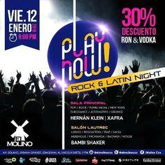 """El Molino presenta: """"Play Now! Rock & Latin Night"""" http://crestametalica.com/evento/molino-presenta-play-now-rock-latin-night/ vía @crestametalica"""