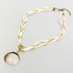 Bohemian Alloy Beaded Braided Necklace