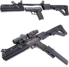 The Triarii from Hera Arms is a pistol to carbine stock conversion system. It takes about 4 seconds to install and your ready to fire. Fits the following models: SIG 226 (Picatinny Rail) SIG 2022 (European Model) Glock 17/19/20/21/22/23/31/32/34/35 CZ SP01 HK P30 HK P30L Walther P99 Walther PPQ S&W M&P9 Check it out here.