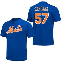 bf773ed3656 New York Mets Authentic Font Personalized T-shirt by Majestic Athletic - MLB .com