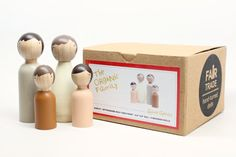 Wooden Peg Dolls The Organic Family // Beige EcoFriendly Kids Little Wooden People by goosegrease, $28.00