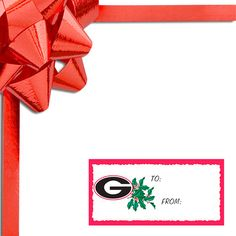 Georgia Bulldogs WinCraft Holiday Gift Tags - $3.19