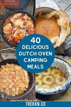Camp Oven Recipes, Campfire Dutch Oven Recipes, Easy Dutch Oven Recipes, Outdoor Cooking Recipes, Dutch Oven Camping, Campfire Food, Best Camping Recipes, Dutch Oven Meals, Dutch Oven Lasagna