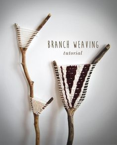 Diy Branch Weaving Tutorial 2019 There is something so cozy and comforting about incorporating the outdoors in your indoor space. Im always on the hunt for interesting wood and branches and I recently got inspired to try out The post Diy Branch Weaving Weaving Projects, Weaving Art, Weaving Patterns, Loom Weaving, Tapestry Weaving, Craft Projects, Weaving Textiles, Hand Weaving, Knitting Patterns