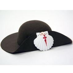 Sombrero clásico Peregrino fieltro marrón   Vieiras y calabazas - Souvenirs   Sombrero clásico Peregrino fieltro