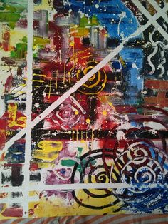 The milky way--My Abstract oil on canvas. www.ovijiet.com