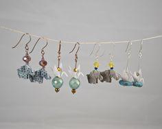 Handmade miniature origami jewelry by Katy Higgins of Prairie Kate Creations