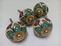 Set of 38 Talavera Mexican Art Ceramic Drawer Pull Cabinet Knobs ...